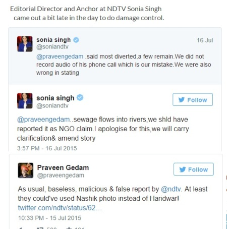 NDTV false news.2