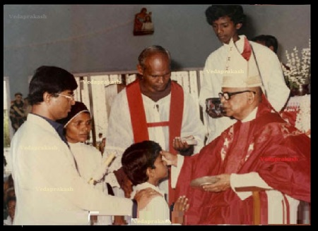 Joseph Vijay getting baptized-2
