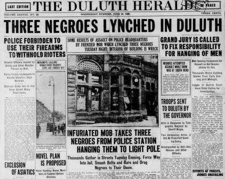 Duluth lynching- 1920