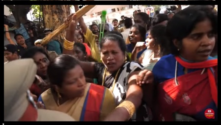 Gayathri house attacked by VCK women with dirty words