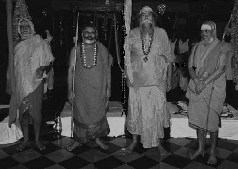 Four Sankaracharyas-Black and white-cropped